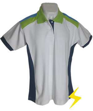 Playera polo combinada interlook con pique