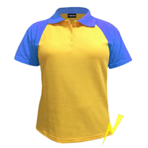 playera polo manga raglan